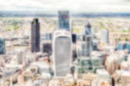 willis: Defocused Background of the London Skyline, UK. Intentionally blurred post production for bokeh effect Stock Photo