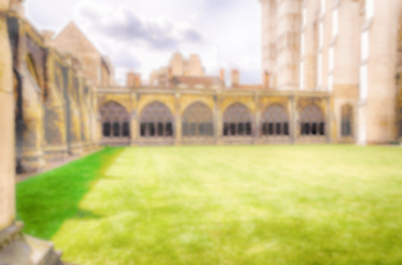 buttresses: Defocused Background of the  Cloister of the Westminster Abbey, London, UK. Intentionally blurred post production for bokeh effect