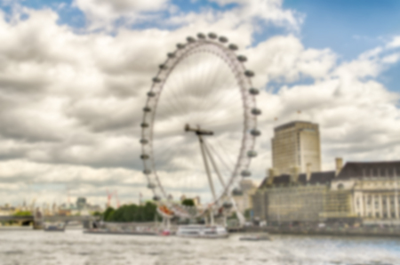 intentionally: London defocused Background. Intentionally blurred post production for bokeh effect Stock Photo