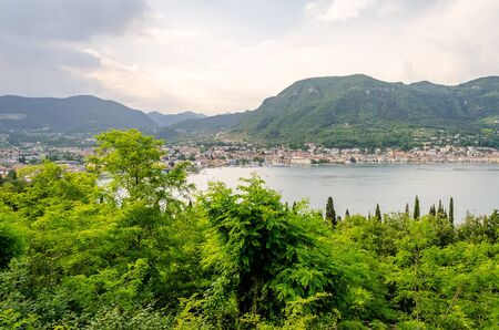 salo: Panoramic View over the Town of Salo, on the Lake Garda, Brescia, Italy