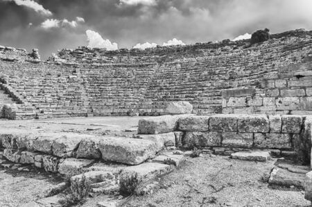 segesta: Ruins of the Greek Theatre of Segesta, Sicily, Italy