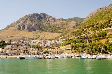 castellammare del golfo: Castellammare del Golfo, a typical sicilian town by the sea Stock Photo