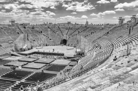 1st century ad: VERONA, ITALY - CIRCA MAY 2014: the Arena di Verona, Italy, circa May 2014. Built by the Romans in the 1st century AD, it is worldwide famous for the large-scale opera performances still given there Editorial