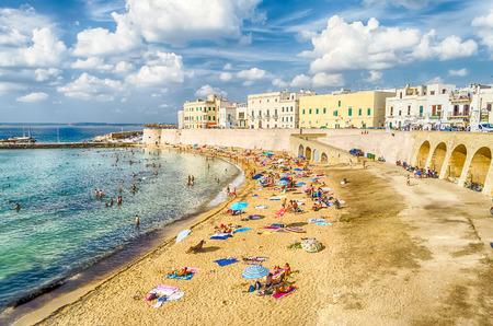 water  scenic: Scenic view of Gallipoli waterfront, Salento, Apulia, Italy