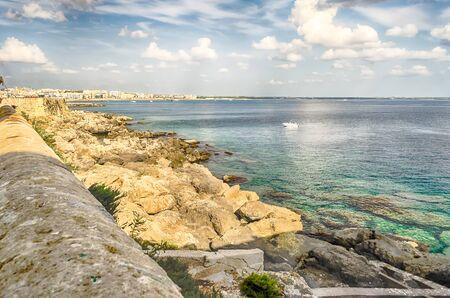 mediterranea: Scenic view of Gallipoli waterfront, Salento, Apulia, Italy