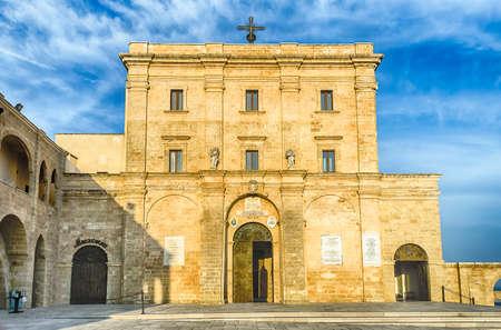 architectural architectonic: The scenic sanctuary of Santa Maria di Leuca in Salento, Apulia, Italy