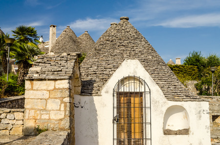trulli: Typical trulli buildings with conical roofs in Alberobello, Apulia, Italy
