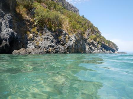 praia: Dino Island on the Coast of the Cedars, Tyrrhenian Sea, Praia a Mare, South of Italy Stock Photo