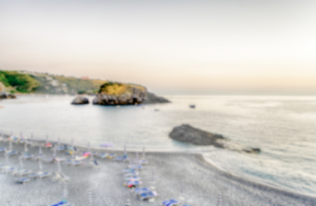 cedars: Defocused background of Arcomagno Beach on the Coast of the Cedars, Tyrrhenian Sea, South of Italy. Intentionally blurred post production for bokeh effect