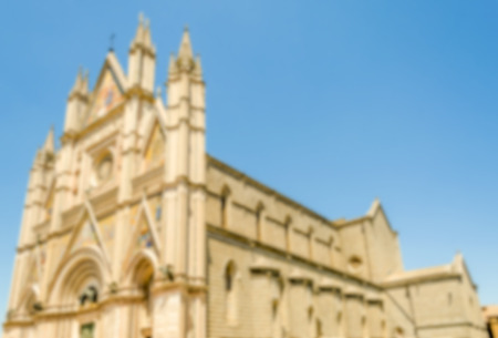 orvieto: Defocused background of the gothic Orvieto Cathedral, Italy. Intentionally blurred post production for bokeh effect