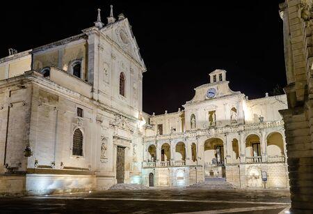 Cathedral of Lecce, masterpiece of baroque art in Salento, Apulia, Italy
