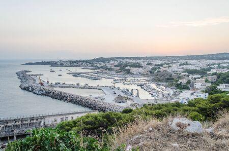 urbanistic: Scenic aerial view of Santa Maria di Leuca waterfront, Salento, Apulia, Italy