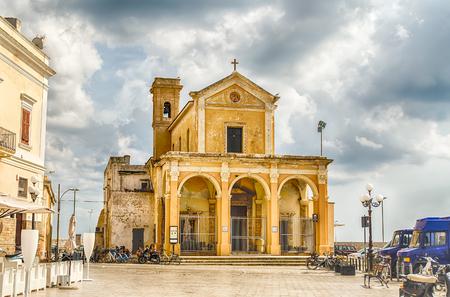 madonna: The Madonna del Canneto sanctuary in Gallipoli, Salento, Italy Stock Photo
