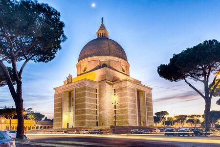 pietro: Sunset over the Church of Santi Pietro e Paolo in the EUR district, Rome, Italy