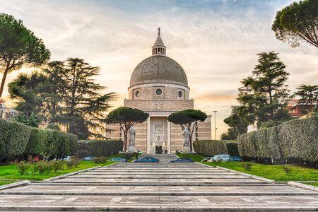 Church of Santi Pietro e Paolo in EUR district in Rome, Italy