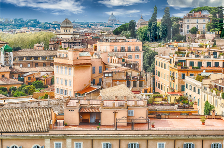 palatine: Aerial view of Rome city centre from the Palatine Hill, Italy