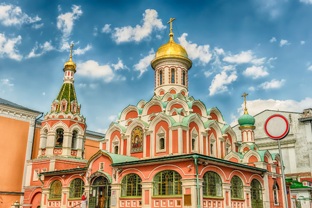 The russian orthodox Kazan Cathedral, iconic landmark in Red Square, Moscow, Russia