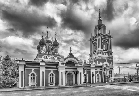 The scenic orthodox Church of St. George, iconic landmark in central Moscow, Russia