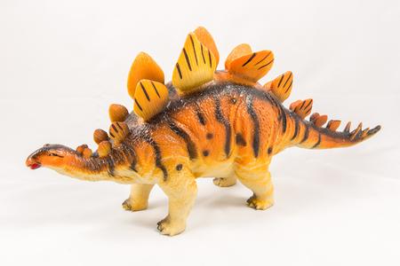 stegosaurus: Stegosaurus dinosaur toy model, isolated on white background Foto de archivo