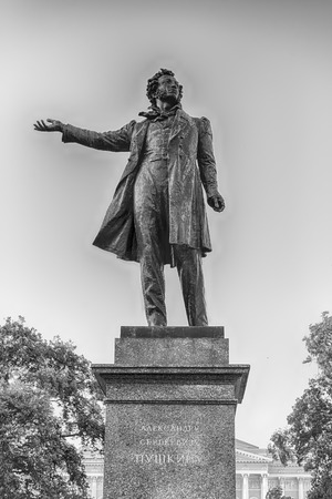 city pushkin: Monument to the great russian poet Alexander Pushkin on Arts Square, St Petersburg, Russia