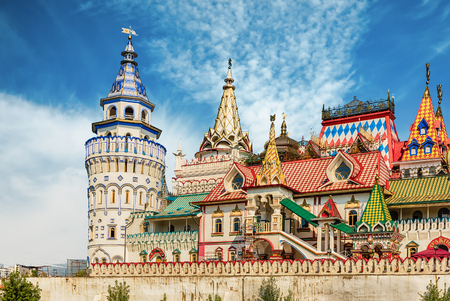 The iconic complex Kremlin in Izmailovo aka Izmailovskiy Kremlin, a cultural center in Moscow, Russia Stock Photo