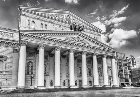 The legendary Bolshoi Theatre, iconic landmark and sightseeing in Moscow, Russia