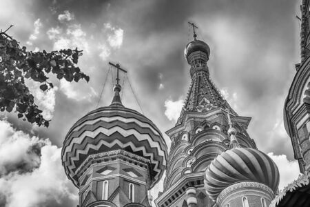 The scenic orthodox Saint Basils Cathedral, iconic landmark on Red Square in Moscow, Russia