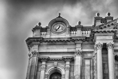 Facade of the Shrine of Our Lady of the Rosary of Pompei, Italy