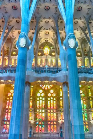 Sagrada Familia Inside Stock Photos Royalty Free Business Images