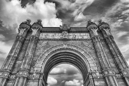 Arc de Triomf, iconic triumphal arc and landmark in Barcelona, Catalonia, Spain Banque d'images