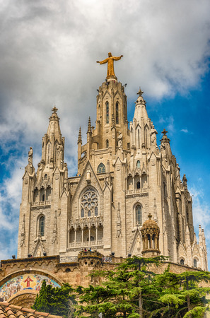 Expiatory Church of the Sacred Heart of Jesus, a Roman Catholic church and minor basilica located on the summit of Mount Tibidabo in Barcelona, Catalonia, Spain Éditoriale