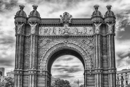 Arc de Triomf, iconic triumphal arc and landmark in Barcelona, Catalonia, Spain Éditoriale