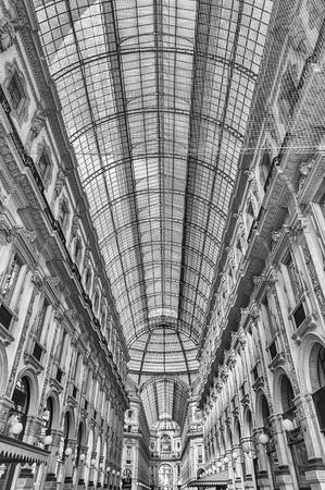 MILAN - SEPTEMBER 11: Interior of Galleria Vittorio Emanuele II, iconic shopping center and landmark in Milan, Italy, September 11, 2017