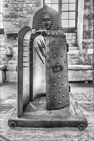 GUBBIO, ITALY - JANUARY 13: Medieval torture instrument featured in the exhibition