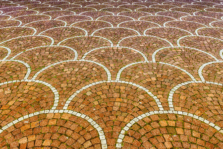 Sampietrini pavement in Rome, Italy. May be used as background