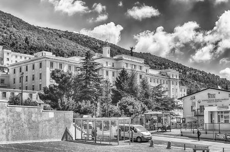 SAN GIOVANNI ROTONDO, ITALY - JUNE 10: Casa Sollievo della Sofferenza, private hospital founded in 1956 by Saint Pio of Pietrelcina, located in San Giovanni Rotondo, Italy, June 10, 2018 Editorial