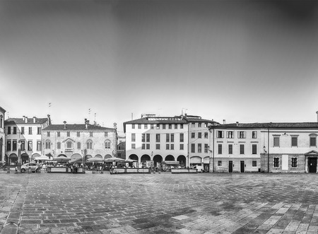 Panoramic view of Piazza Duomo, aka Cathedrals square in the city center of Padua, Italy Stockfoto