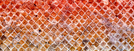 Red Stone Brick Wall Texture with copy space, may use as background