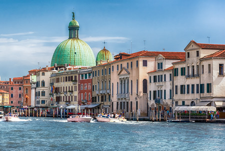 Scenic view of the Grand Canal in Santa Croce district of Venice, Italy Stockfoto