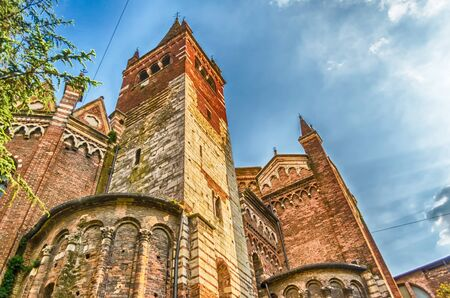 Detail of the church of San Fermo Maggiore, Verona, Italy. The church is located in the most ancient part of the city, near the Ponte delle Navi