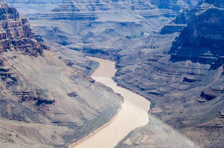 Aerial view from helicopter, Grand Canyon, Arizona, USA