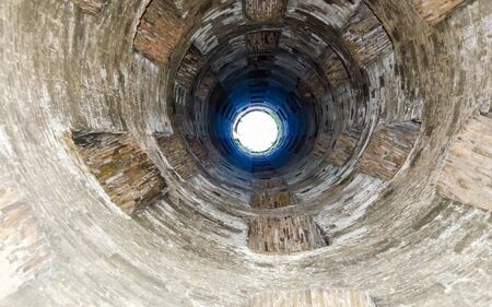 St. Patrick's Well, a masterpiece of engineering in Orvieto, Italy Archivio Fotografico