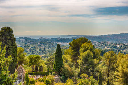 Scenic view in the town of Saint-Paul-de-Vence, Cote d'Azur, France. It is one of the oldest medieval towns on the French Riviera