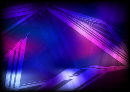 Abstract dark layout with blue and purple shapes.  Vector