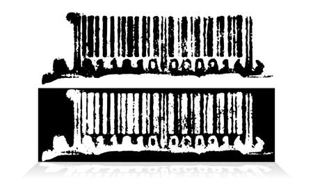 Abstract grunge barcode. Vector Vector