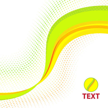 Abstract bright summery line. Vector Stock Vector - 15529490