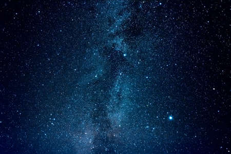 Clear night sky with milky way and huge amount of stars.