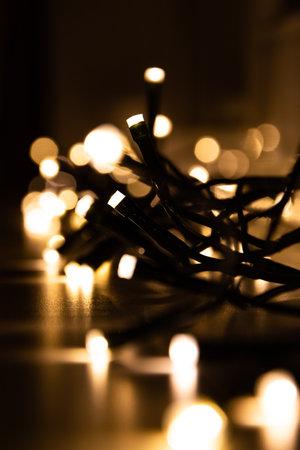 Close up of led flashlights for celebration and decoration.