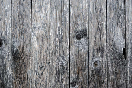 Close up of grey colour natural old wood texture background. Banco de Imagens