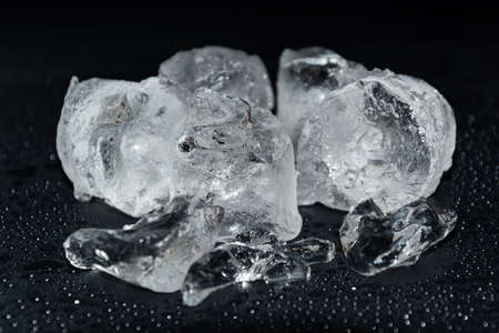 Melting frozen ice cubes. Best for cooling drinks.